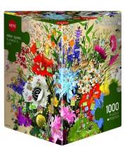 Пъзел Heye от 1000 части - Живота на цветята, Марино Дегано -1