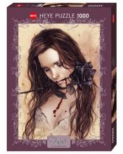 Пъзел Heye от 1000 части - Черна роза, Виктория Франсес