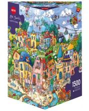 Пъзел Heye от 1500 части - Щастлив град, Рита Берман -1