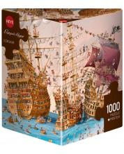 Пъзел Heye от 1000 части - Корсари, Франсоа Рюер -1