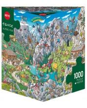 Пъзел Heye от 1000 части - Алпийски забавления, Биргит Танк -1