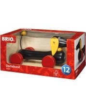 Играчка за дърпане Brio - Дакел -1