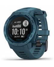 GPS часовник Garmin - Instinct, lakeside blue -1