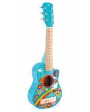 Детски музикален инструмент Hapе - Китара Flower Power, от дърво -1