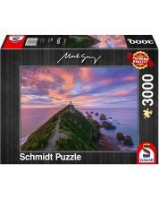 Пъзел Schmidt от 3000 части - Фарът на Nugget Point, Южен остров, Нова Зеландия -1
