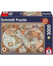 Пъзел Schmidt от 3000 части - Древна карта на света