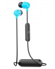 Слушалки с микрофон Skullcandy - Jib Wireless, сини -1