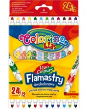 Двувърхи флумастери - Комплект от 24 цвята