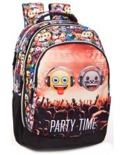Ученическа раница J. M. Inacio Emoji - Party Time, с 2 отделения -1