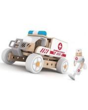 Детски дървен конструктор 3в1 Classic World - Линейка -1