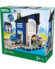 Сглобяема играчка Brio World - Полицейски участък, 6 части