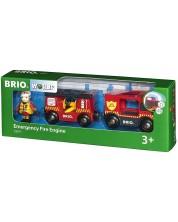 Играчка Brio World - Пожарна кола