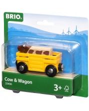 ЖП аксесоар Brio - Товарно вагонче с крава