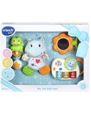 Подаръчен комплект играчки за бебе Vtech - Син -1