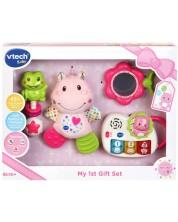 Подаръчен комплект играчки за бебе Vtech - Розов -1
