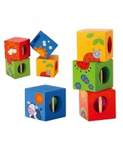 Дървени кубчета Classic World - Животни
