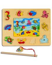 Магнитна игра от дърво Pino - Морско дъно -1