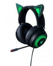 Гейминг слушалки Razer Kraken Kitty Ed. - черни -1