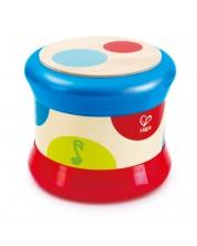 Бебешка играчка Hape - Барабан, от дърво -1