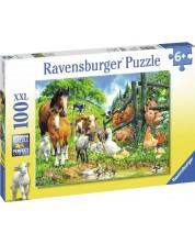 Пъзел Ravensburger от 100 XXL части - Приятели животни