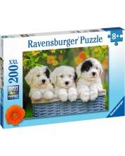 Пъзел Ravensburger от 200 XXL части - Пухкави кученца