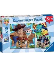 Пъзел Ravensburger от 3 x 49 части - Приятелства в Играта на играчките 4