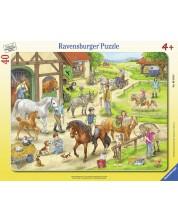 Пъзел Ravensburger от 40 части - Ден в ранчото -1
