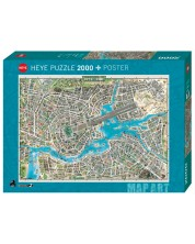 Пъзел Heye от 2000 части - Градът на поп музиката