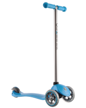 Тротинетка-триколка Globber My Free Fixed - Синя, с кормило цвят металик