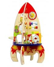 Дървена играчка Classic World - Сортер, ракета