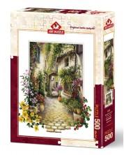 Пъзел Art Puzzle от 500 части - В малкото селце с цветя, Ерик Ъруин