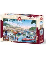 Пъзел Art Puzzle от 1000 части - Малкият рибар на пристанището, Артуро Зарага -1