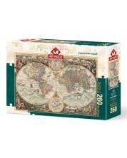 Пъзел Art Puzzle от 260 части - Световна карта, Алберто Росини -1