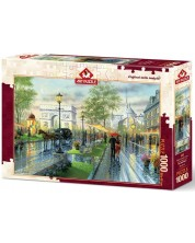 Пъзел Art Puzzle от 1000 части - Пролетна разходка, Париж, Кен Шотуел -1