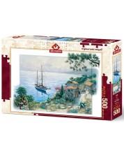 Пъзел Art Puzzle от 500 части - Заливът, Питър Моц -1