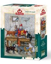 Пъзел Art Puzzle от 260 части - Цветните котки, Марек Брзозовски