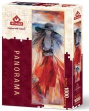 Панорамен пъзел Art Puzzle от 1000 части - Лятна рокля, Уилем Хаенраец