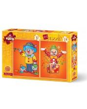 Пъзел Art Puzzle 2 в 1 - Клоуни