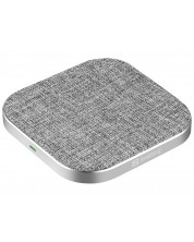 Безжично зарядно Sandberg - 15W, сиво -1