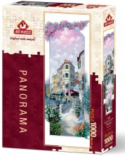 Панорамен пъзел Art Puzzle от 1000 части - Венеция в цветя, Питър Моц