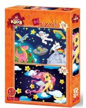 Пъзел Art Puzzle 2 в 1 - Астронавтът и Бебето Пегас -1