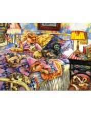 Пъзел SunsOut от 1000 части - Легло с домашни любимци, Сюзън Брабо