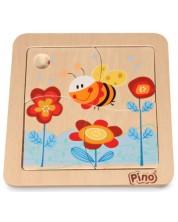 Мини пъзел Pino от 4 части - Пчела