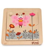 Мини пъзел Pino от 4 части - Пеперуда