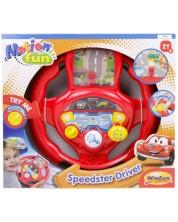 Детска музикална играчка WinFun - Волан Speedster Driver -1