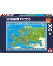 Пъзел Schmidt от 500 части - Преоткривай Европа