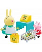 Комплект фигурки Peppa Pig - Супермаркет, с 2 фигурки