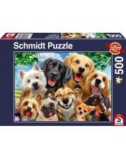 Пъзел Schmidt от 500 части - Кучешко селфи