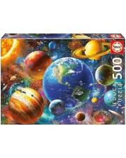 Пъзел Educa от 500 части - Слънчевата система