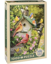 Пъзел Cobble Hill от 1000 части - Лятна къщичка за птици